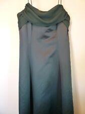Womens large 14 hunter green long evening formal bridesmaid dress ball gown