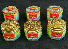6  WILD TIGER BALM WHITE- Rub Massage Muscles Ointment Menthol PAIN RELIEF