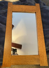 Qtr sawn oak mission Mirror  tapered sides