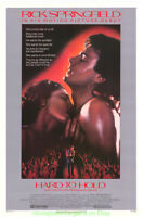 HARD TO HOLD MOVIE POSTER Original RARE Rolled 27x41 RICK SPRINGFIELD 1984