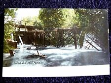 Early 1900's The Mill Pond in Aiken, SC South Carolina PC