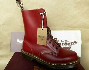 DR MARTENS MADE IN ENGLAND 1490 OXBLOOD RED VINTAGE MID CALF BOOTS UK 7  EU 41