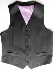 "Mans black wool waistcoat Charles Tyrwhitt Jermyn Street 40"" chest M NEW"