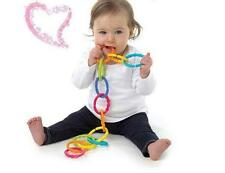 NEW 6pcs Happy Baby Loopy Links Toys Infant Teether Training Rainbow Circle
