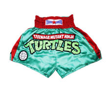 Ninja Turtles Muay Thai Shorts Mma Men Kids Kick Boxing Satin Pants Wear Size Xl