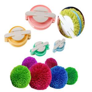 4 Sizes Pompom Maker Plastic Pom Set Clover Fluff Ball Weaver Needle Tool Kit