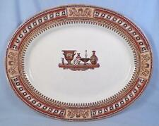 Etruscan Vases Transferware Platter Antique T J & J Mayer Rust Brown Transfer