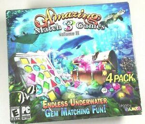 AMAZING Match 3 Games Volume II 4 Pack Endless Underwater Gem Matching Fun (PC)