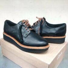 Clarks Artisan Teadale Rhea Black Leather Elegant Brogues Lace up Shoes UK 3.5 D