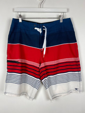 New listing Oneill Mens Santa Cruz Brisbane Board Shorts Blue Color Block Striped Stretch 31
