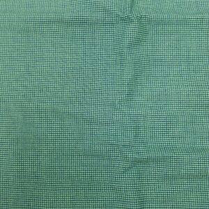 "Fall Frolic Tiny Checked Kaye England Screenprint Cotton 1 yard Green 40""x38"""