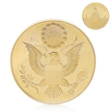Annuit Coeptis National Emblem Gold Plated Challenge Commemorative Coin Physical