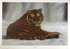 "JONATHAN TRUSS ""Siberian Snow"" tiger wildlife NEW art SIZE:51cm x 76cm  RARE"