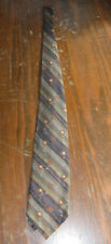 StirpeS With Flowers Design Long (61 in.) Necktie Roff'e Accessories