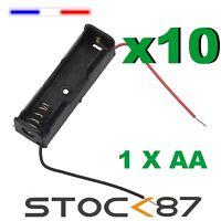 997J# 10pcs  Boitier Bloc Support pour Pile 1 X AA  LR06  Battery Holder Case