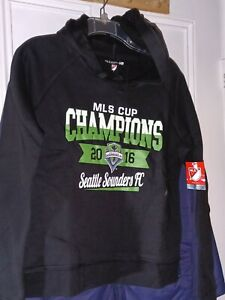Seattle Sounders FC Hooded Sweatshirt Soccer 2016 MLS Cup Champions Ladies Small