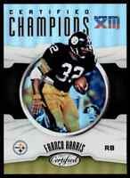 2017 CERTIFIED CHAMPIONS FRANCO HARRIS PITTSBURGH STEELERS #CC-FH