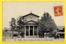 cpa F. Fleury FRANCE 75  PARIS Place LACHAMBEAUDIE ÉGLISE ND de BERCY 12e Siecle