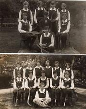5 St Mary's School Wantage  Hockey Tennis 1920/22 details on backs RP pcs