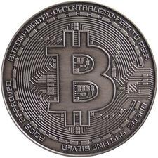 Bitcoin Commemorative 1 oz Antique .999 Silver Proof Round USA with COA