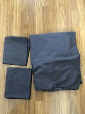 DEBENHAMS. GUNMETAL GREY DOUBLE FITTED SHEET AND TWO PILLOWCASES