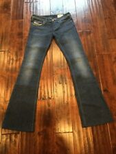 Diesel Lowky B.C. Medium Wash Boot Cut Flare Blue Jeans, Size 25