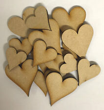 WOODEN HEARTS MIXED 24 PIECE SET (MDF)
