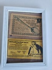 Vintage McDonald's And Betty Crocker Coupons Framed