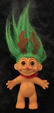 Vintage Russ Troll Doll RudolphThe Red-Nosed Reindeer Troll Green Hair