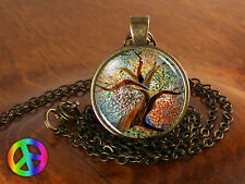 Tree of Life Mosaic Vintage Women Handmade Fashion Necklace Pendant Jewelry Gift