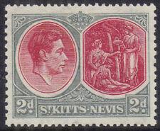 St Kitts & Nevis 1938 2d scarlet & grey sg 71 MH