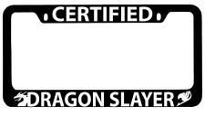 Black METAL License Plate Frame Certified Dragon Slayer Accessory Fairy Tail