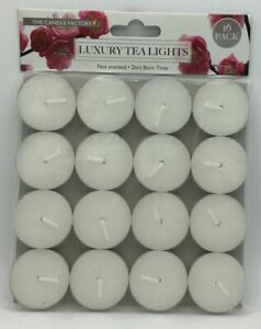LUXURY TEALIGHT CANDLE 2 HOUR QUALITY TIME 16PCS NOT SCENTED.