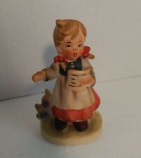 Royal Crown Child Life Hand Painted Girl Singing Figurine 3.5in tall 33/326