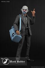 1/6 figure  (PC002) bank robber joker suit 2.0 latest contains Blue bag+mask