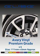 LOTUS ELISE Alloy Wheel Vinyl Stickers - Graphics X 6
