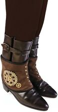 Mens Adult Steampunk Western Cosplay Comicon Fancy Dress Outfit Spats Accessory