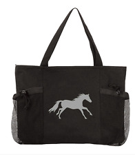 """Lila"" Galloping Horse Convenience Tote Bag"