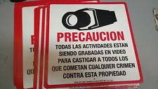 Spanish Camera Video Recording Signs Maxwell Part #STV204S