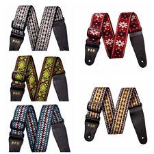 Vintage Acoustic Electric Guitar Strap Belt Retro Hippie Folk Style Band Nylon