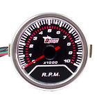 "12V Car Universal Pointer Smoke Tint Len 2"" 52mm Tacho Tachometer Gauge Dials"