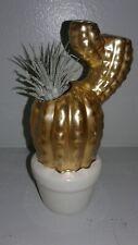 Live Air Plant Garden Cactus Gold White Ceramic Decor Succulent Minimalist