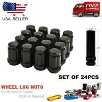 24 Pc Set Tuner Lug Nuts 12x1.5 Chrome Honda Accord Civic CR-V