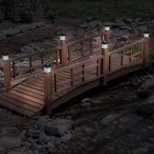Brown 8 Ft Led Light Posts Garden Bridge Outdoor Home Furniture Garden Backyard