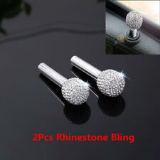 2X Rhinestone Bling Car Interior Door Lock Knob Pins Replace Simple Installation