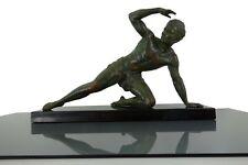 """Art Deco Sculpture Statue """"Le guetteur"""" By Jean De Roncourt France 1930s"""