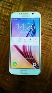 Samsung Galaxy S6 SM-G920F 32 GB White Unlocked for parts or repair