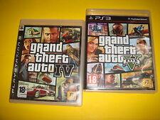 Dos Juegos Playstation 3 - Grand Theft Auto 4 y 5 buen estado