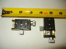 "OptoSigma Linear Stage 1"" X 1.75"" With 1/2"" Travel, Mitric Taped Holes, Lot of 2"