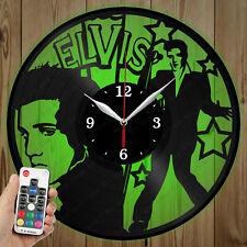 LED Vinyl Clock Elvis LED Wall Art Decor Clock Original Gift 3882